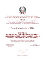 DVR a.s. 2013 2014 - direzione didattica massa 2° circolo