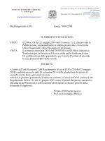 Det.Dirigenziale n.912 Lucca, 10/09/2014 IL