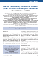 Thermal spray coatings for corrosion and wear protection of