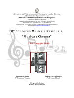 """8° Concorso Musicale Nazionale """"Musica e Cinema"""""""