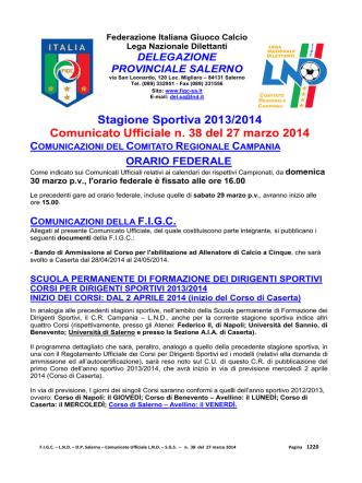 c.u. 38 doc - FIGC