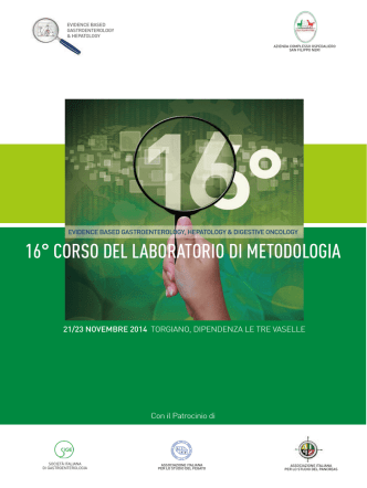16° CORSO DEL LABORATORIO DI METODOLOGIA - Emec-roma