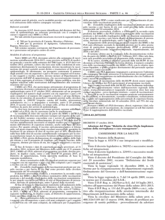 Decreto 17 ottobre 2014