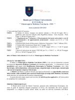 Bando per il Master Universitario - Università degli Studi di Camerino