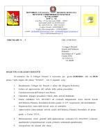 CIRCOLARE N. 1 DEL 25/08/2014 Ai sigg.ri Docenti