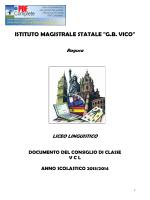Documento Consiglio di Classe 5 CL