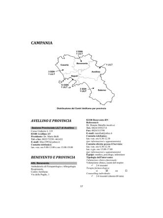 Campania [PDF - 725.32 kbytes] - Istituto Superiore di Sanità