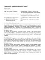 Caratelli curriculum breve_dott - Facoltà di Economia