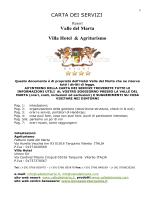 carta dei servizi 2014 - Agriturismo Valle del Marta