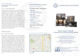 clicca qui - Dipartimento di Economia   Università degli Studi di Milano