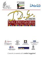 Programma di sala 3 novembre Cavallerizza
