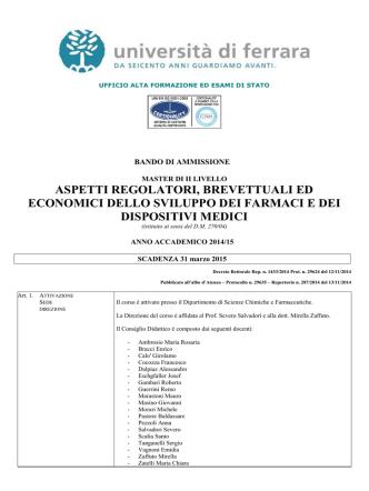 aspetti regolatori del farmaco 2014_15
