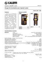 Gruppi di circolazione per impianti solari. Serie 255-256