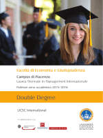 Double Degree - Università Cattolica del Sacro Cuore