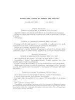 DIARIO DEL CORSO DI TEORIA DEI GRUPPI Prima settimana