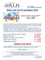 week-end a brolo - Associazione DALFI.