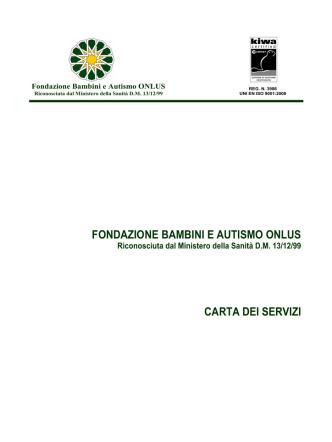 049_CartaServizi - Fondazione bambini e autismo