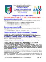 Stagione Sportiva 2014/2015 Comunicato Ufficiale n - FIGC