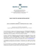 Documento di Registrazione 2014 Banca di Rimini