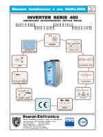 manuale completo inverter vettoriale SERIE 400