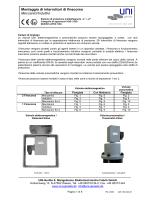 Montaggio di interruttori di finecorsa Meccanici/Induttivi