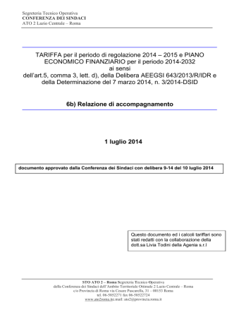6b) Relazione di accompagnamento