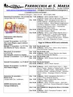 CAMMINANDO INSIEME - Parrocchia Santa Maria di Castelnuovo