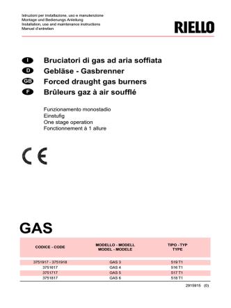 Bruciatori di gas ad aria soffiata Gebläse - Gasbrenner