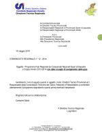 Comunicato Regionale n° 12- 2014 - Programma