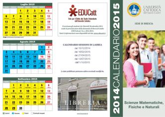 Calendario Accademico 2014-2015 - Università Cattolica del Sacro