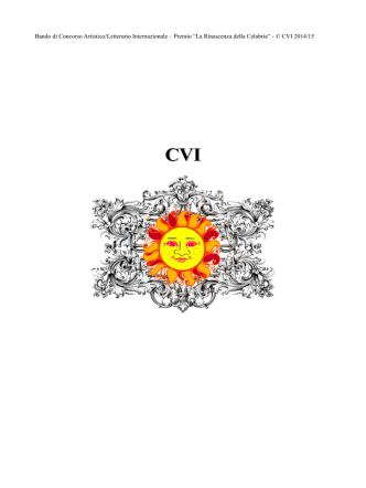 bandoconcorsoCVI2Ed.2015.x1 - CredendoVidesInternational
