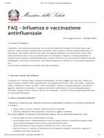 FAQ - Influenza e vaccinazione antinfluenzale