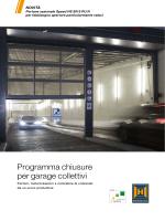 Programma chiusure per garage collettivi