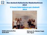Deutsch-italienische Studentenforum