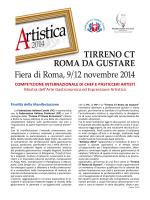 Artistica 2014 - Federazione Italiana Cuochi