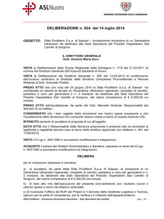 Deliberazione n. 924 del 14 luglio 2014 [file]