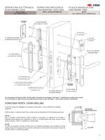 Istruzioni montaggio serratura Cisa Wave Mode