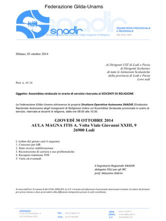 Circolare n 28 - ICC di Borghetto Lodigiano