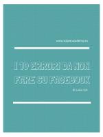 Guida No Errori Facebook