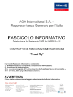 Fascicolo Informativo Travel Fly