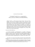 Luciana Cacciaguerra VALFREDO CARDUCCI E LA BIBLIOTECA