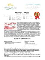 """Bergamo: """"Creattiva"""""""
