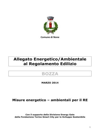Allegato Energetico/Ambientale al Regolamento