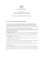 Senato Accademico del 31 luglio 2014