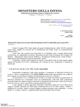 Circolare (file  473 kb) - Ministero della Difesa