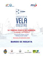 bando vi trofeo porto di venezia 2014