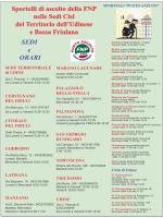 Sportelli di ascolto della FNP nelle Sedi Cisl del Territorio dell