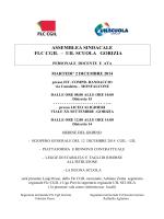 ASSEMBLEA SINDACALE FLC CGIL – UIL SCUOLA GORIZIA