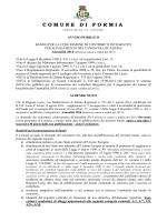 Bando - Comune di Formia