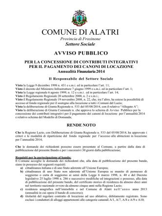 annualita - Comune di Alatri